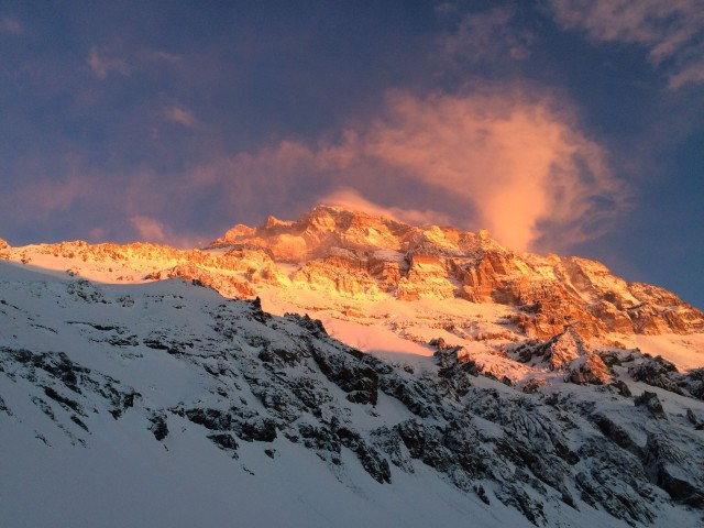Aconcagua in the evening light.