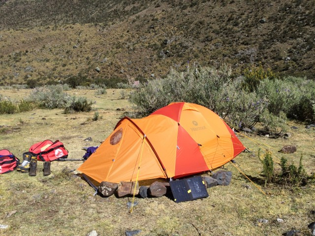 My Marmot tent in base camp.