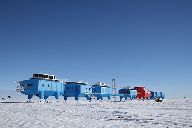 The Halley VI research station.  Picture from the British Antarctic Survey.
