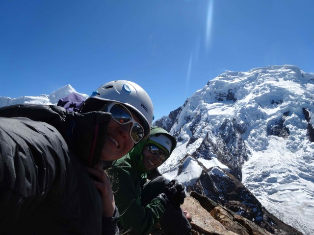 Me and Rafal on the summit of Jatunmontepuncu, Peru.