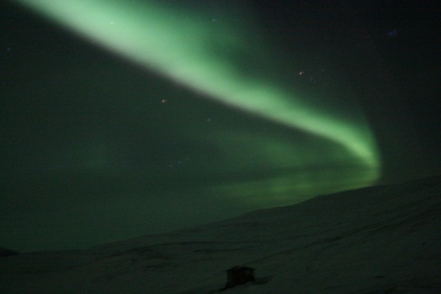Aurora seen from the Aurora Sky Station, Abisko