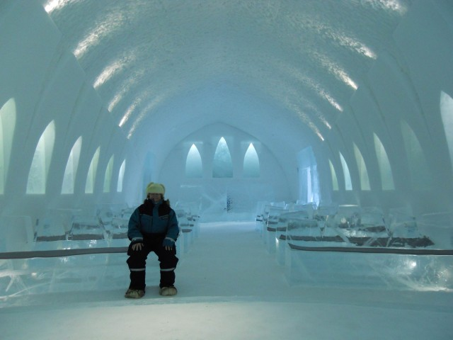Ice Church in the Icehotel, Sweden.