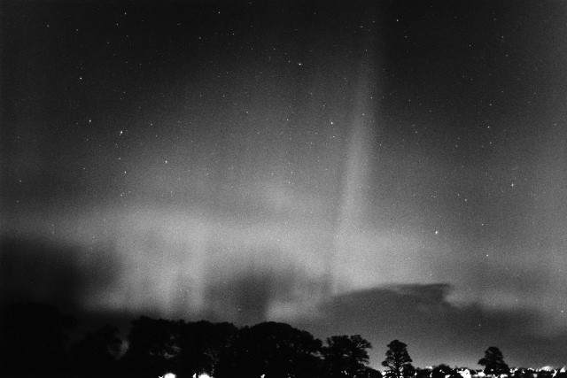 A large, all-sky auroral display seen over Scotland in March 1982.