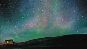 """Under Aurora Skies"" painting by Ellie Mulhern"