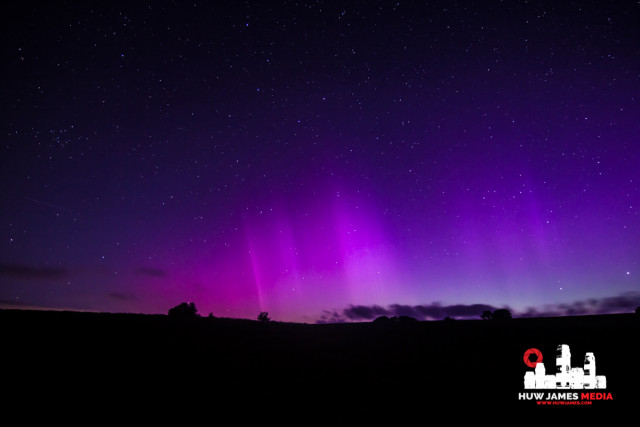 Aurora seen from Wales.