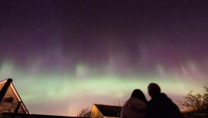 aurora over Thurso, Scotland.