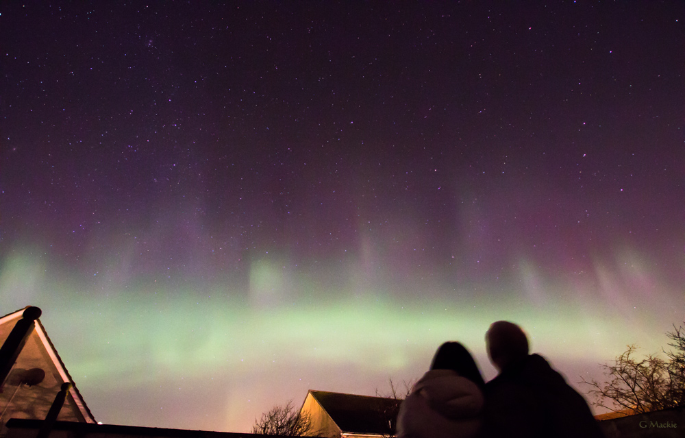 aurora over Thurso.