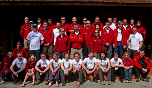 The Cauldwell Xtreme Everest team, 2007. Photo courtesy of Xtreme Everest.