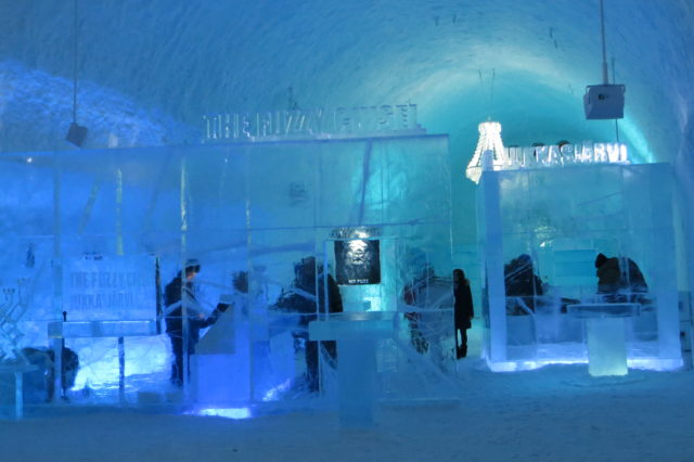 The IceBar in IceHotel 365, Sweden.