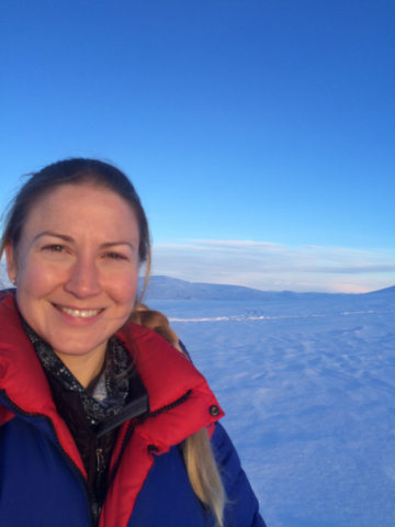 Squinting into the sunshine for the first time in almost 3 weeks! Svalbard, March 2015.