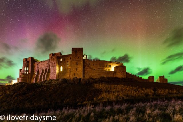Northern Lights over Bamburgh Castle by Alan Leightley.