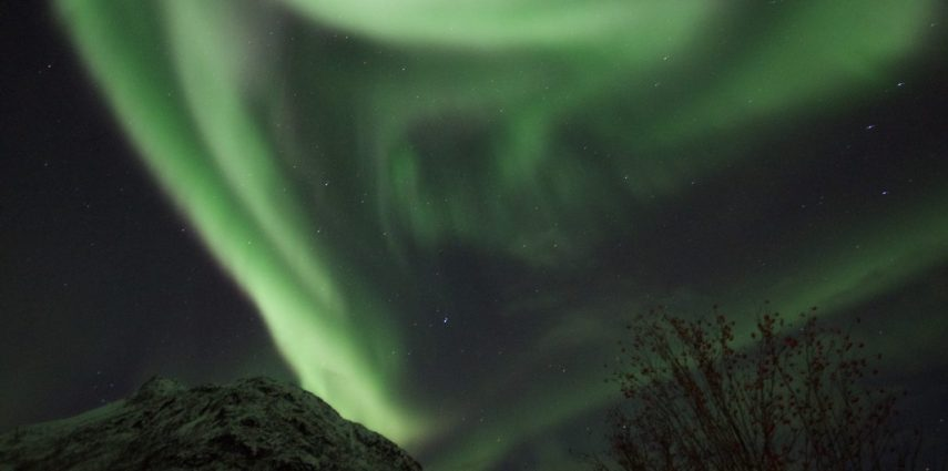 Wild aurora in northern Norway.