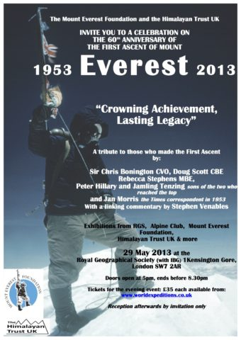 Flyer for the Everest 60th anniversary event.