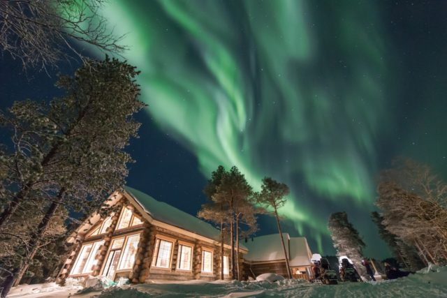Aurora over Wilderness Hotel Nangu.