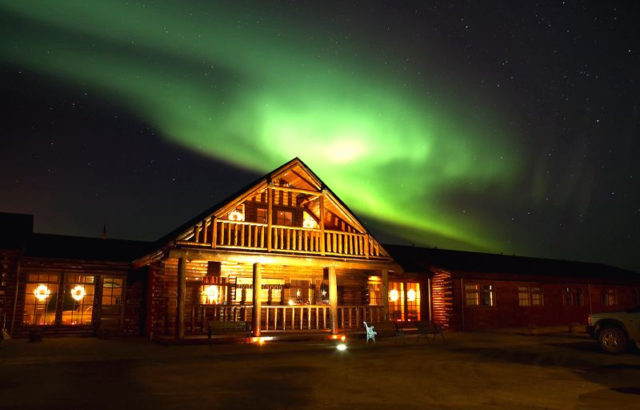Northern lights over Hotel Ranga, Iceland. Credit: Hotel Ranga