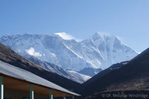 Peak of Everest from Pangboche Dr. Melanie Windridge