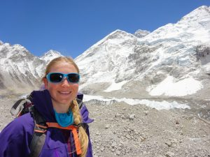 Melanie Windridge on walk near Everest Base Camp