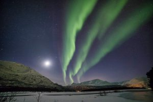 Northern lights Skibotn Norway
