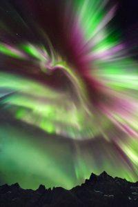 Adrien Mauduit aurora corona Mefjorvær on Senja