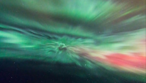 Auroral corona by Gordon Mackie, Scotland.