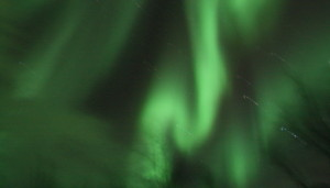 Twisting northern lights above Abisko, Sweden.