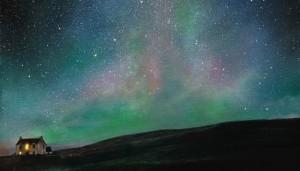 """""""Under Aurora Skies"""" painting by Ellie Mulhern"""