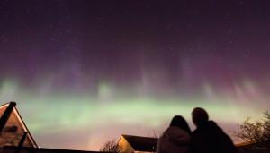 aurora over Thurso, Scotland.