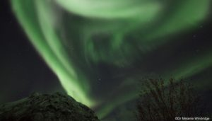 Wild aurora in northern Norway.