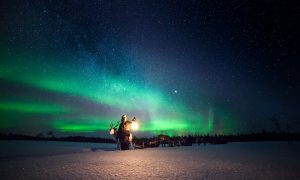 Winter aurora. Photo: The Aurora Zone, Antti Pietikainen