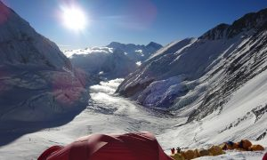Everest Camp 3 - view of Western Cwm