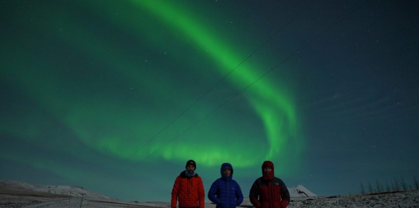 The founders of the Live Aurora Network, Steve, Tony and Jeff (left to right), in Iceland.