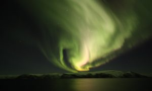 Aurora seen from a Hurtigruten cruise in December 2018