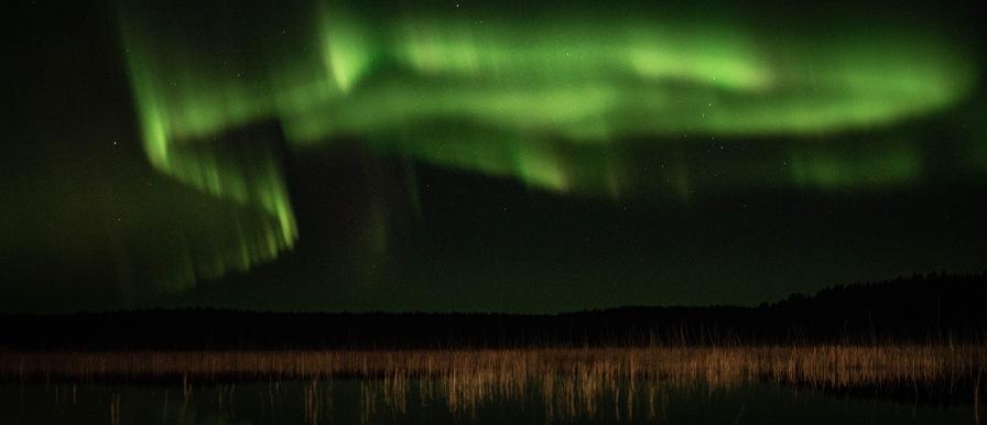 Aurora photo by Leo Mengoli in Finland - Aurora resources in other languages - Melanie Windridge