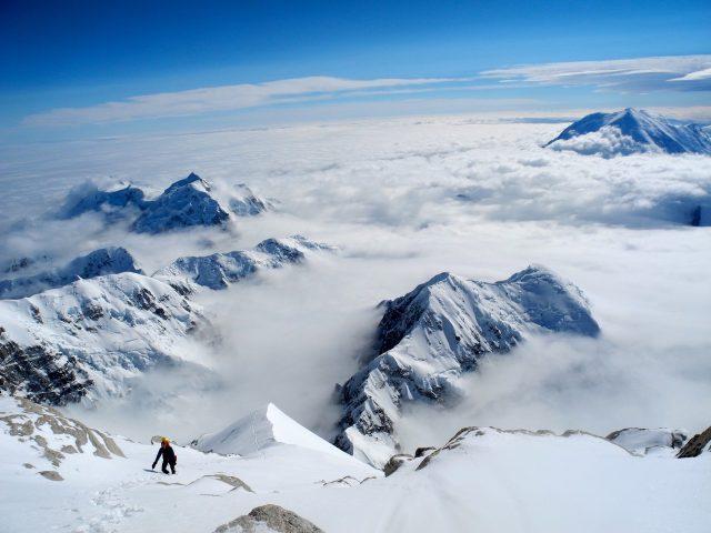 Tom on the Cassin Ridge, Denali, Alaska. Photo: Tom Ripley